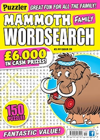 Mammoth Family Wordsearch