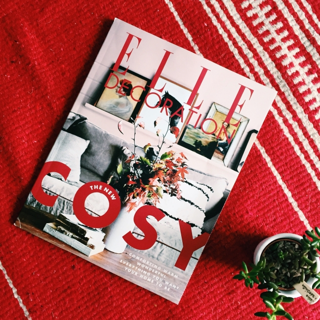 getting cosy with elle decoration magazine