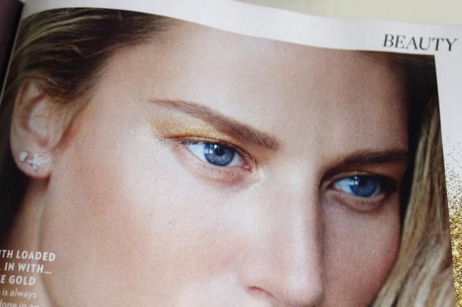 Red Magazine - Gold Eyeshadow Feature