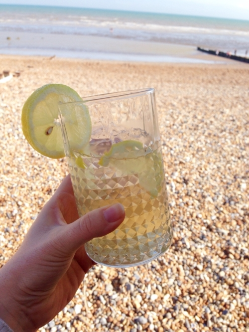 Jamie Oliver magazine cocktails on beach