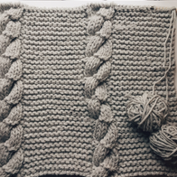 cable knit blanket elle decoration