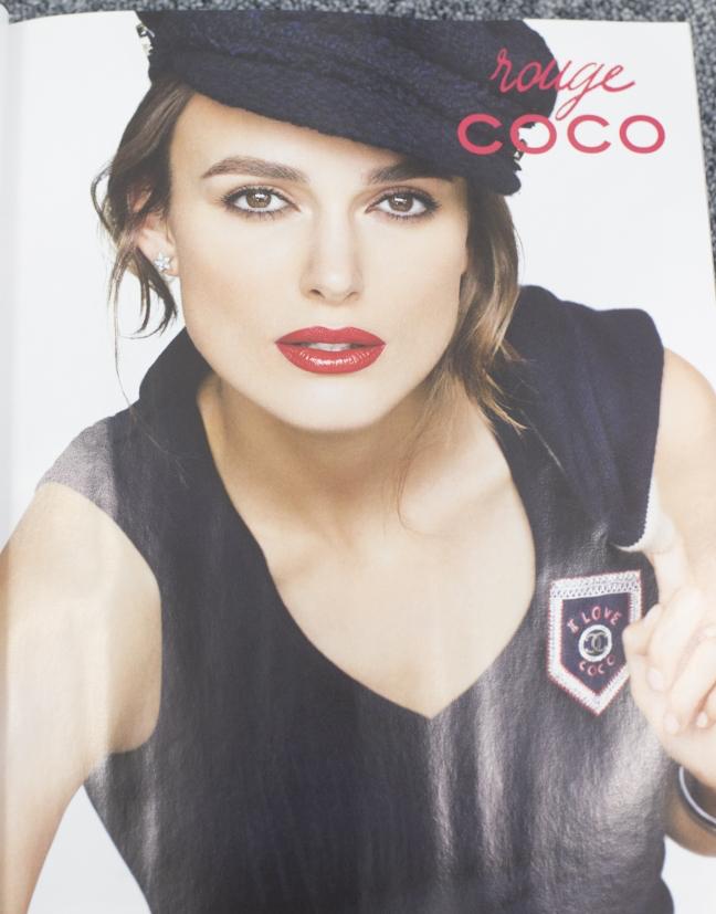 red lipstick vogue coco ad