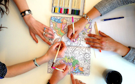 adult colouring therapy
