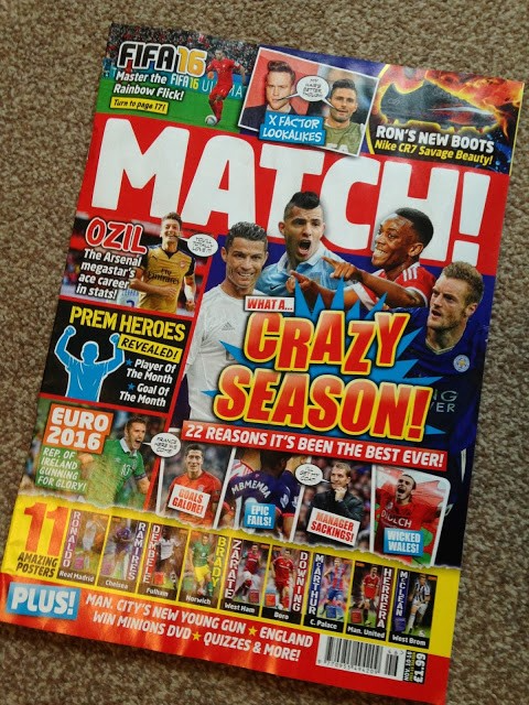 Match magazine front cover