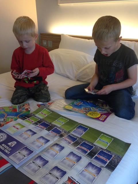 Match magazine kids football stickers