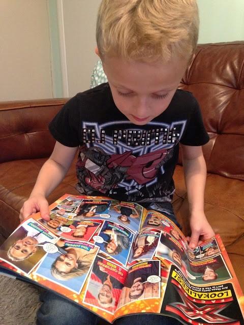 Match magazine kids reading