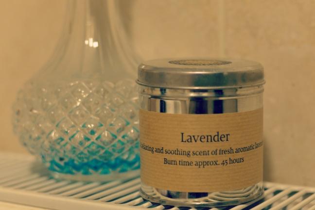 lavender candle bath vogue