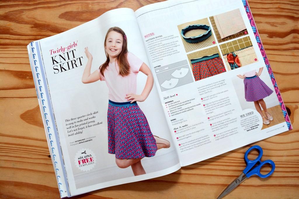 Twirly Girls Knit Skirt sewing pattern