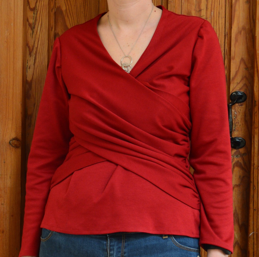 Homemade red top from Love Sewing magazine