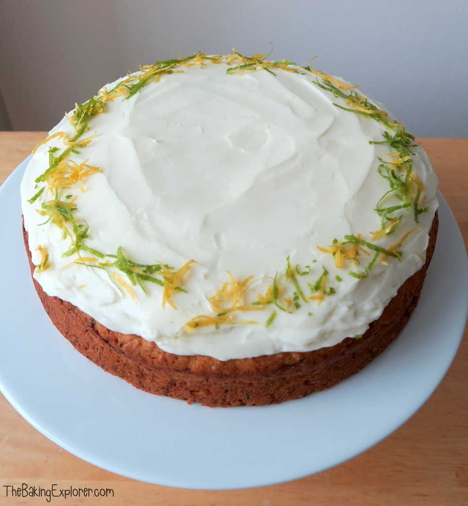 The finished courgette cake
