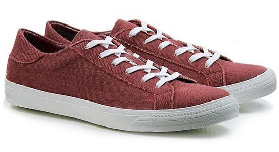 A pair of red Low Sneakers from Wills London