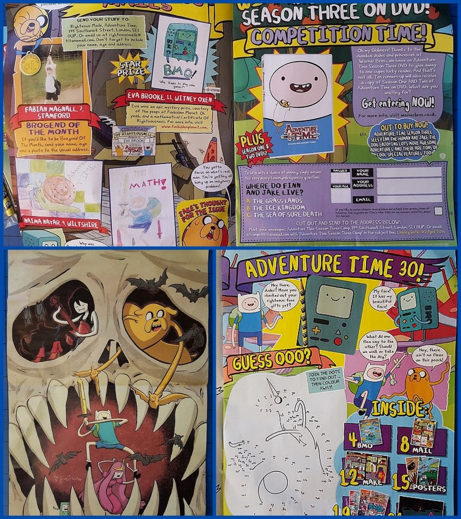 The content inside Adventure Time magazine