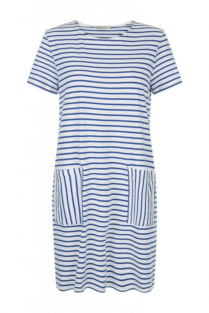 Aida stripe dress in blue from People Tree