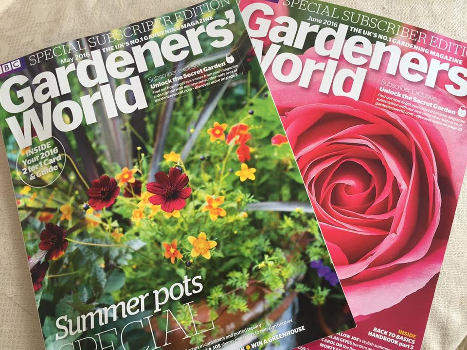 May issue of Gardeners' World magazine