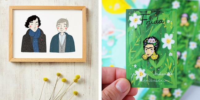 Ilustration and pin by And Smile Studio
