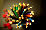 A variety of colouring pencils