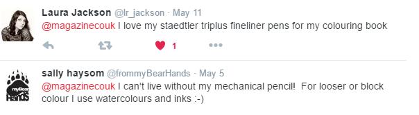 Responses on Twitter