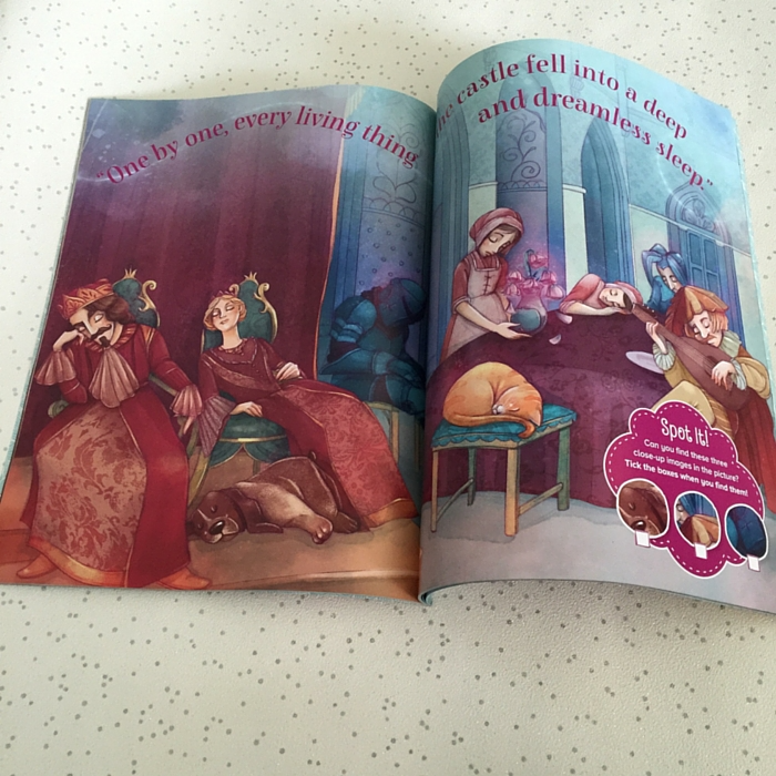 Inside spread of Storytime magazine