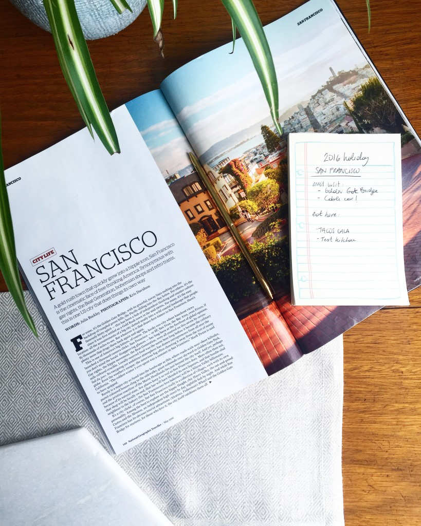 A feature on San Francisco in National Geographic Traveller