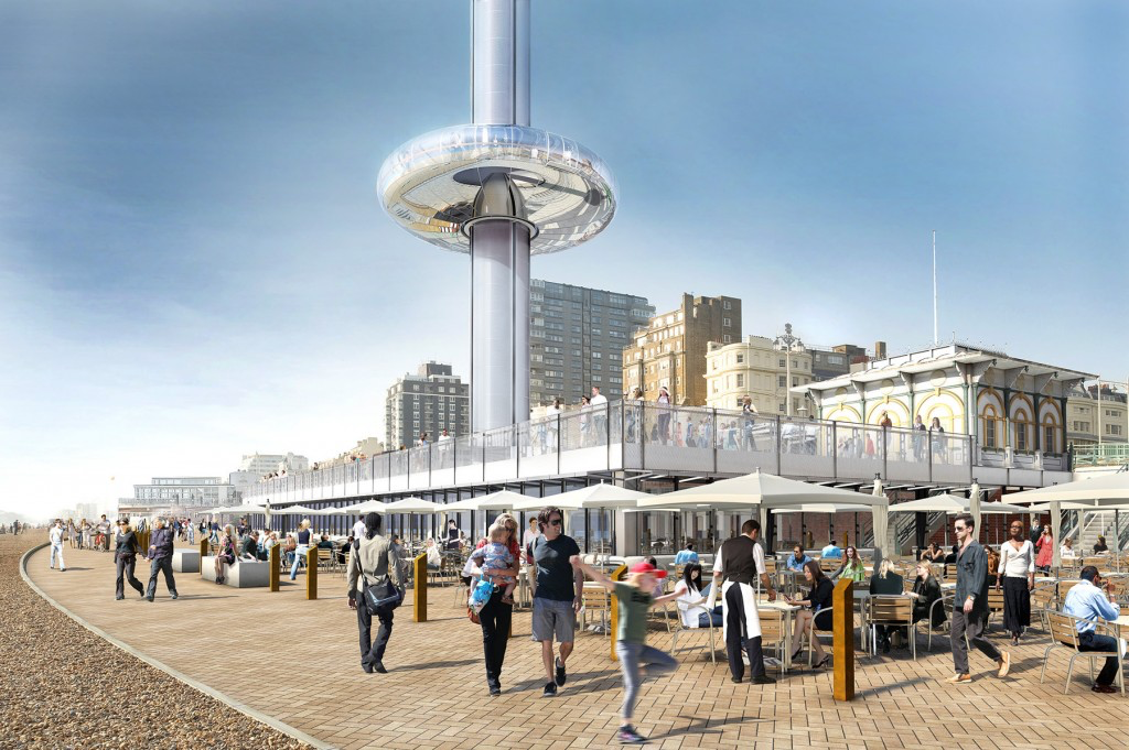 British Airways i360 on a busy sunny day