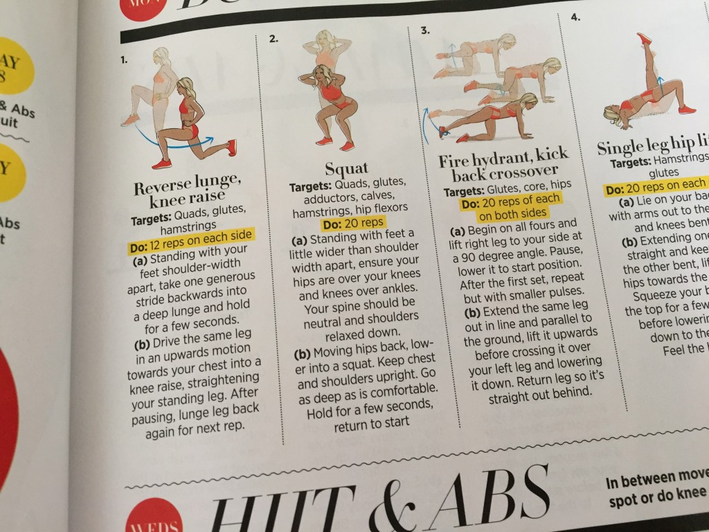 Woman's Health magazine guide to HIIT and abs work-out