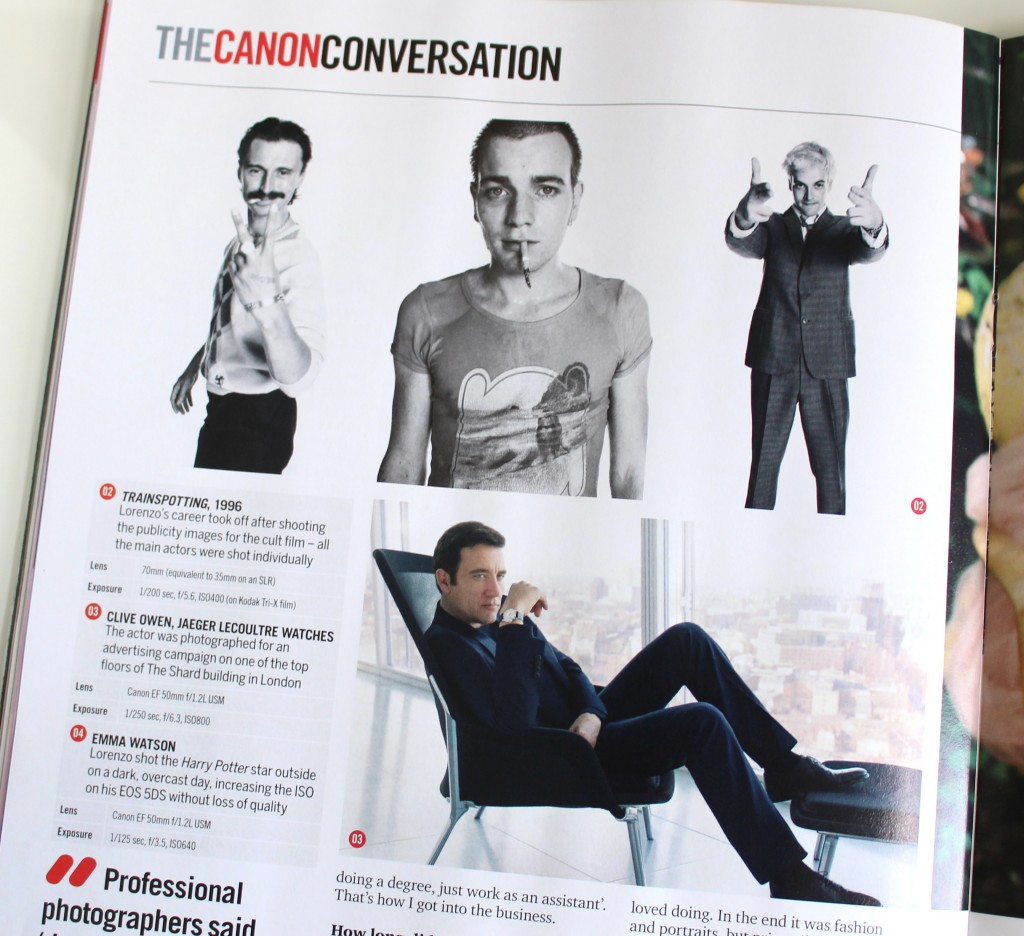 The Canon Conversation Page from PhotoPlus magazine
