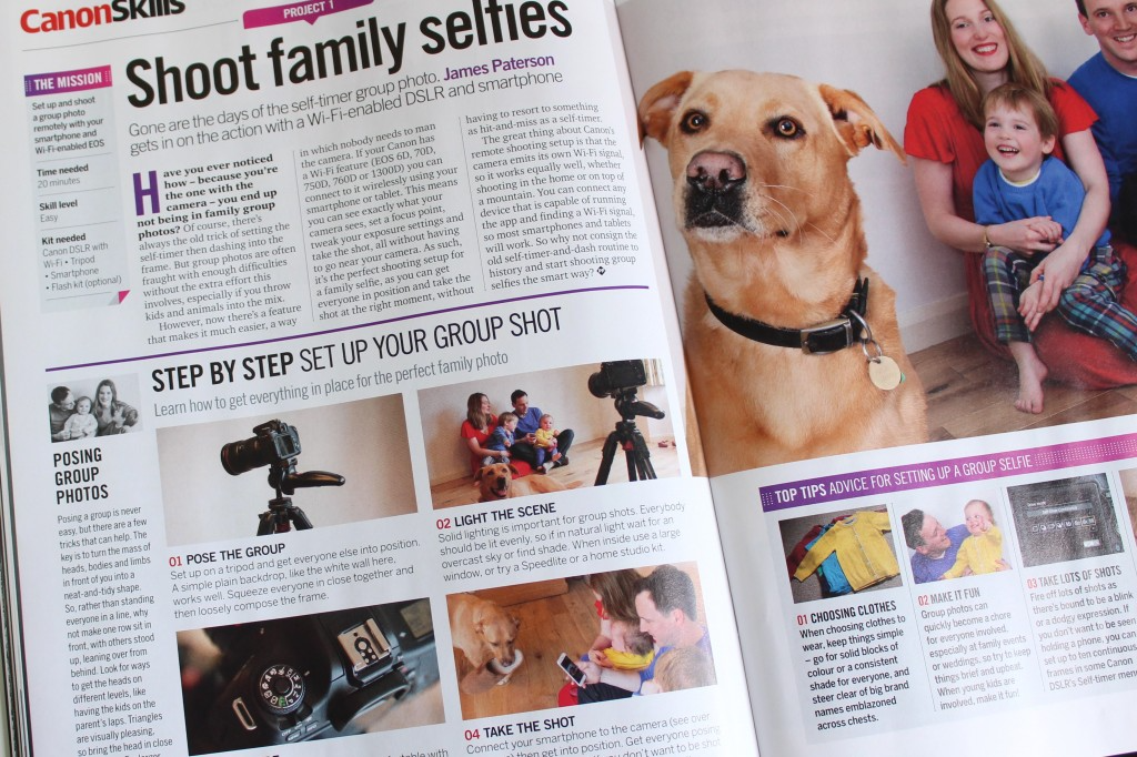 PhotoPlus magazine content about taking family selfies