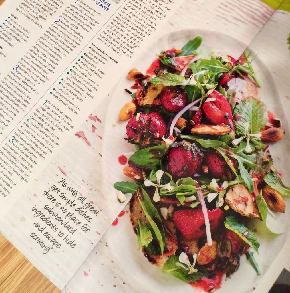 grilled strawberry salad womens fitness magazine