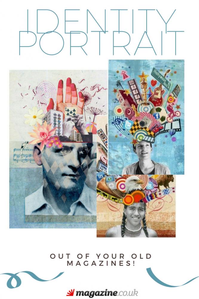 Identity Portrait out of Magazines | Magazine Crafts for Kids | magazine.co.uk