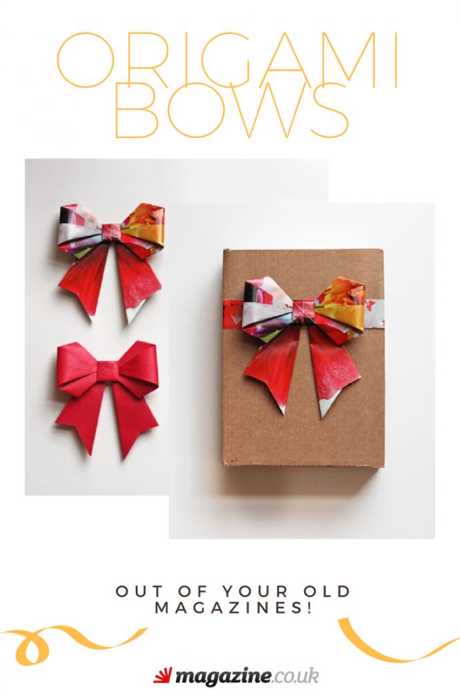 Origami Bows out of Magazines | Magazine Crafts | magazine.co.uk