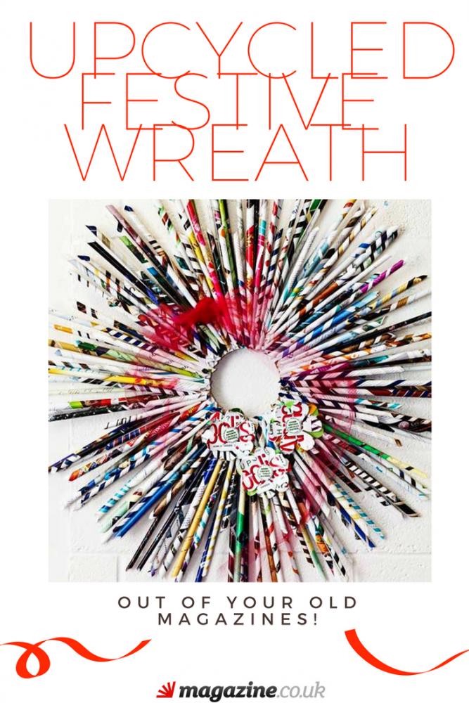 Upcycled Festive Wreath out of Magazines | Magazine Crafts | magazine.co.uk