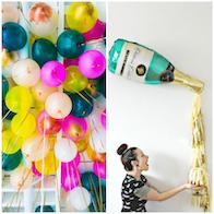 NYE balloon decorating ideas | The Hub blog at magazine.co.uk
