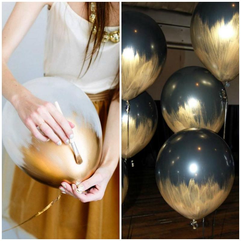 Metallic Balloons DIY | The Hub blog at magazine.co.uk