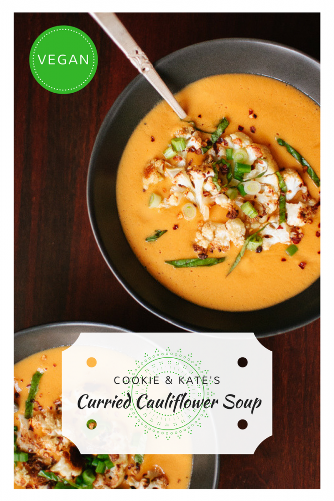 Curried Cauliflower Soup from Cookie and Kate - Our Top 5 Recipes for #veganuary!