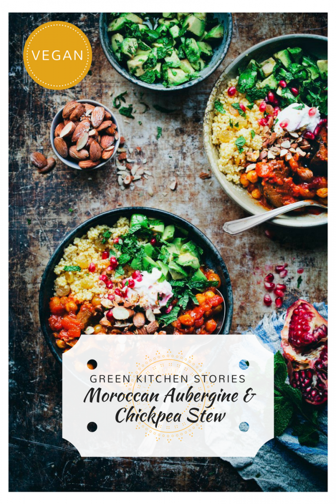 Moroccan Aubergine and Chickpea Stew from Green Kitchen Stories - Our Top 5 Recipes for #veganuary!