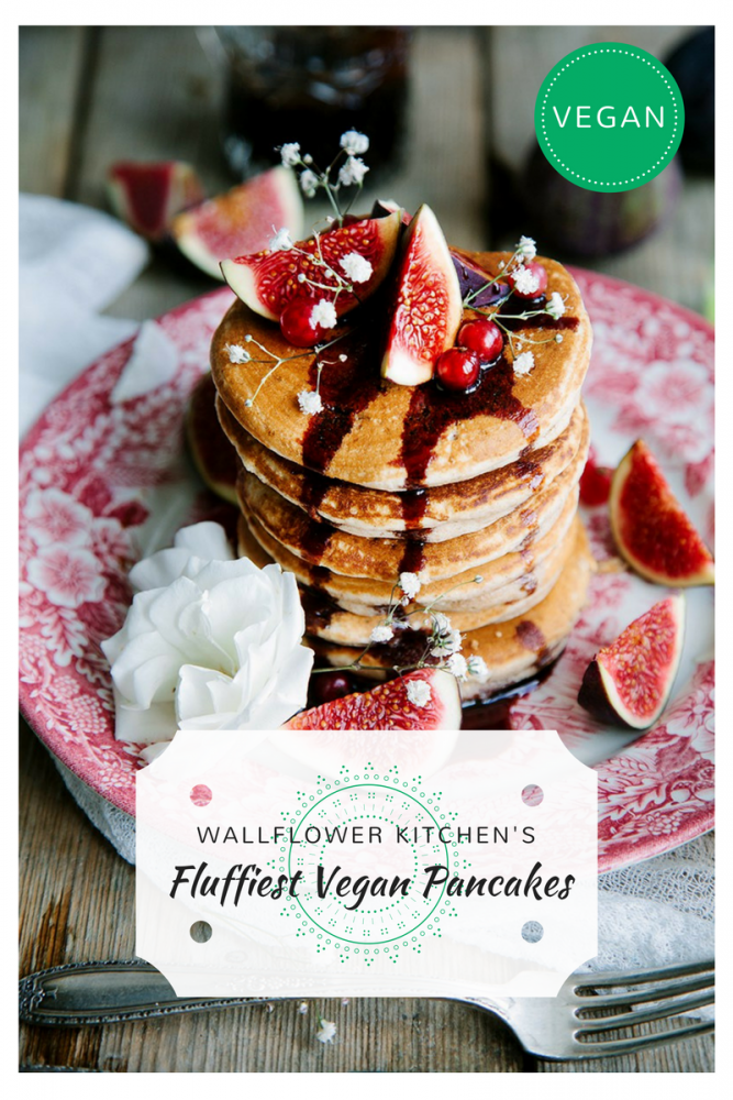 The Fluffiest Vegan Pancakes from The Wallflower Kitchen - Our Top 5 Recipes for #veganuary! (1)