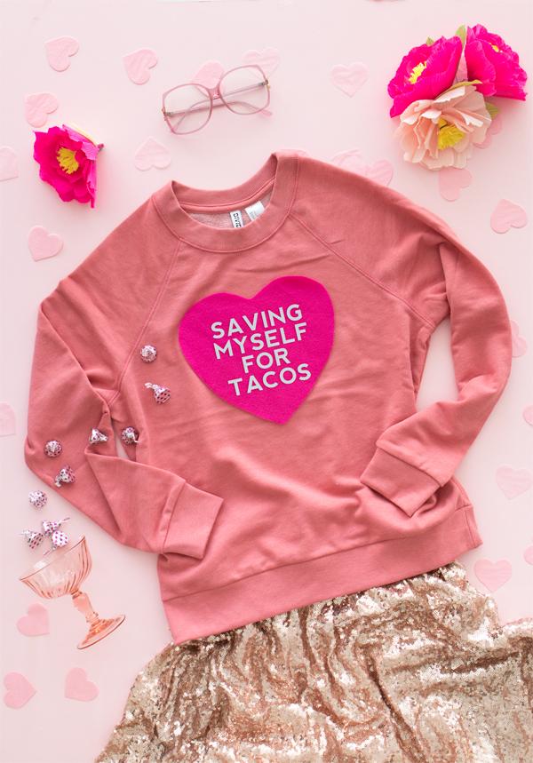 DIY valentines sweater