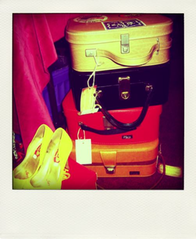 Vintage Suitcases in a Pile  Polly_Allen