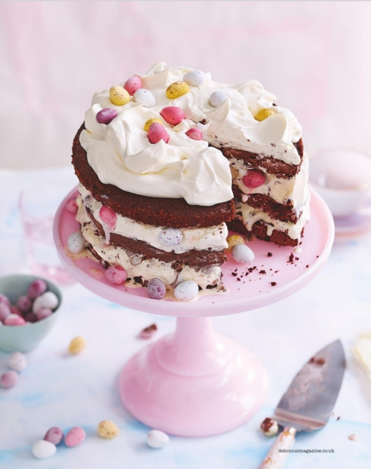 delicious Mini Egg Ice Cream Chocolate Layer Cake