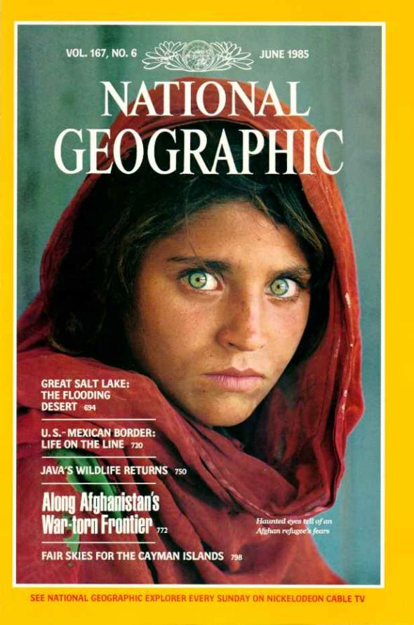 Afghan Girl 1985 National Geographic Cover