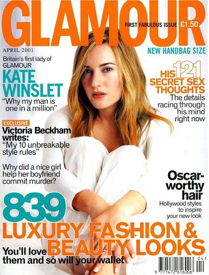 Glamour magazine April 2001 Kate Winslet