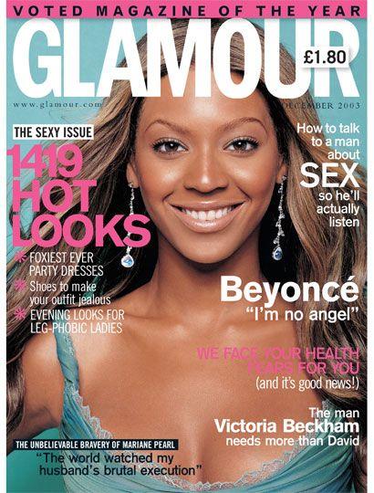 Glamour magazine December 2003 Beyonce