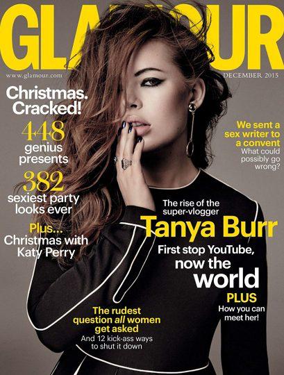Glamour magazine December 2015 Tanya Burr