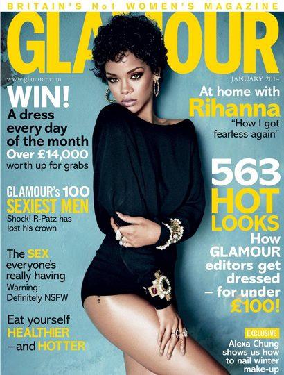 Glamour magazine January 2014 Rihanna