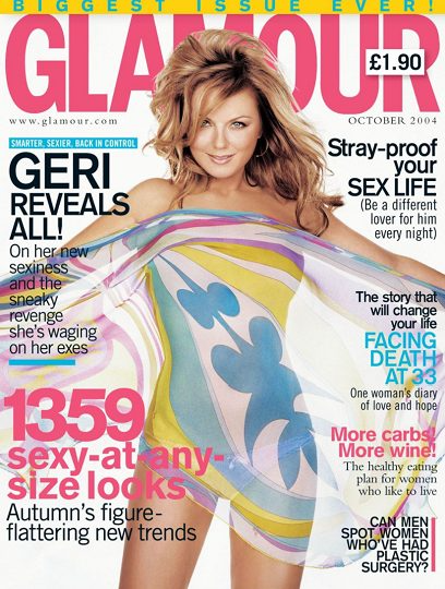 Glamour magazine October 2004 Geri Halliwell