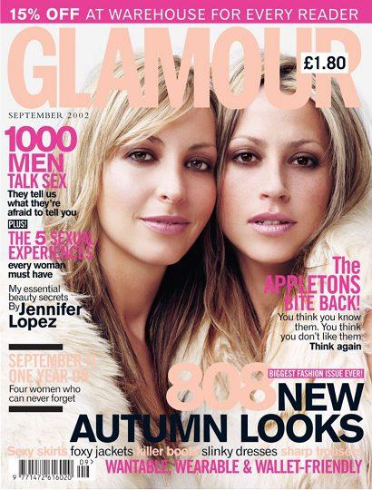 Glamour magazine September 2002 Natalie and Nicole Appleton