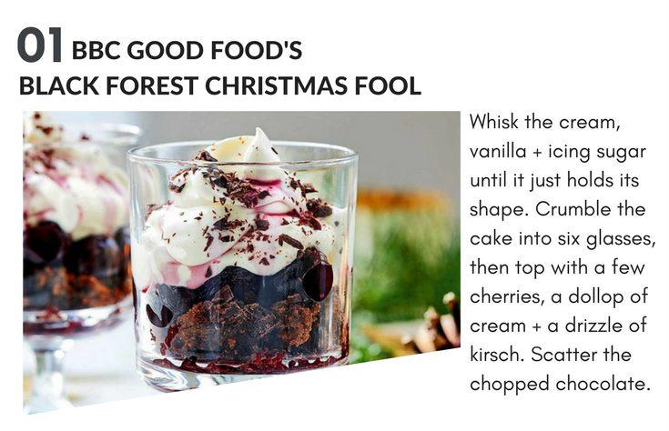 christmas magazine recipes - black forest fool