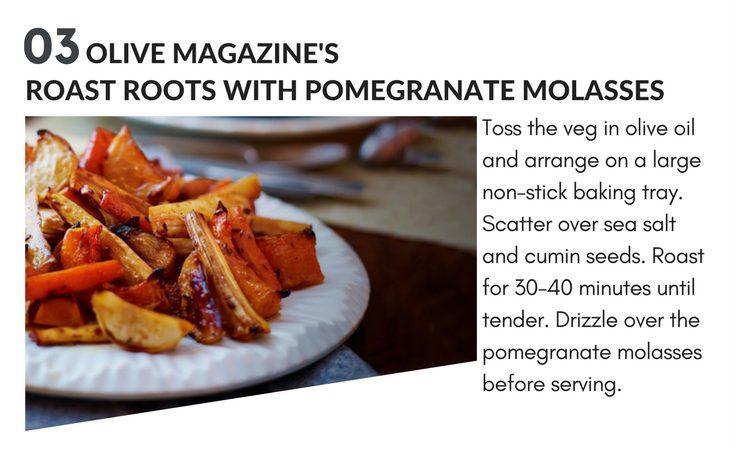 christmas magazine recipes - roasted veg