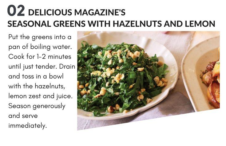 christmas magazine recipes - seasonal greens