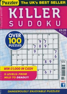Puzzler Killer Sudoku Magazine